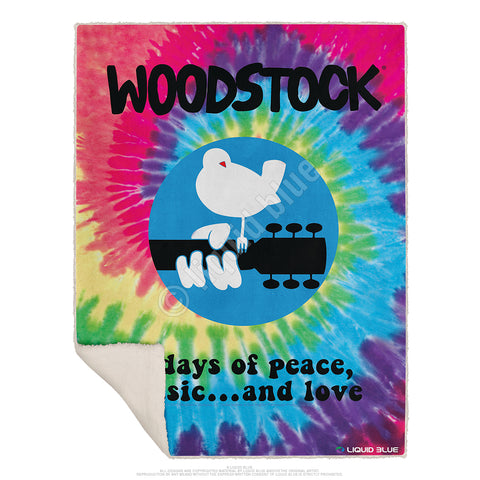 "Woodstock Fleece Throw Blanket 50""x 60"""