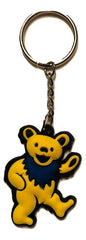 Grateful Dead Dancing Dancing Bear Two Toned Rubber Key Chain