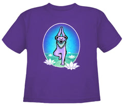 Yoga Bear Youth T Shirt