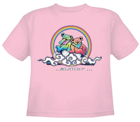 Smilin' Bears on a Cloud Youth Pink T Shirt