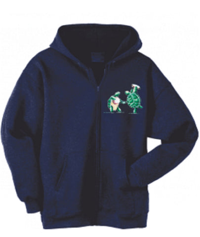 Grateful Dead Terrapin Station Turtles - Zip Up Hoodie with Pouch- Free Shipping