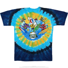 Grateful Dead Beach Bear Bingo Tie Dye Shirt