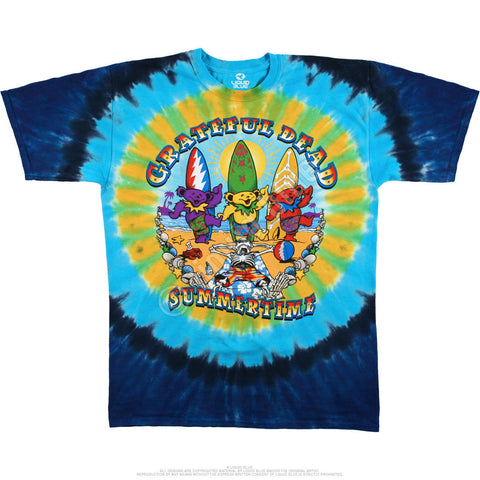Grateful Dead - Beach Bear Bingo Tie Dye T Shirt