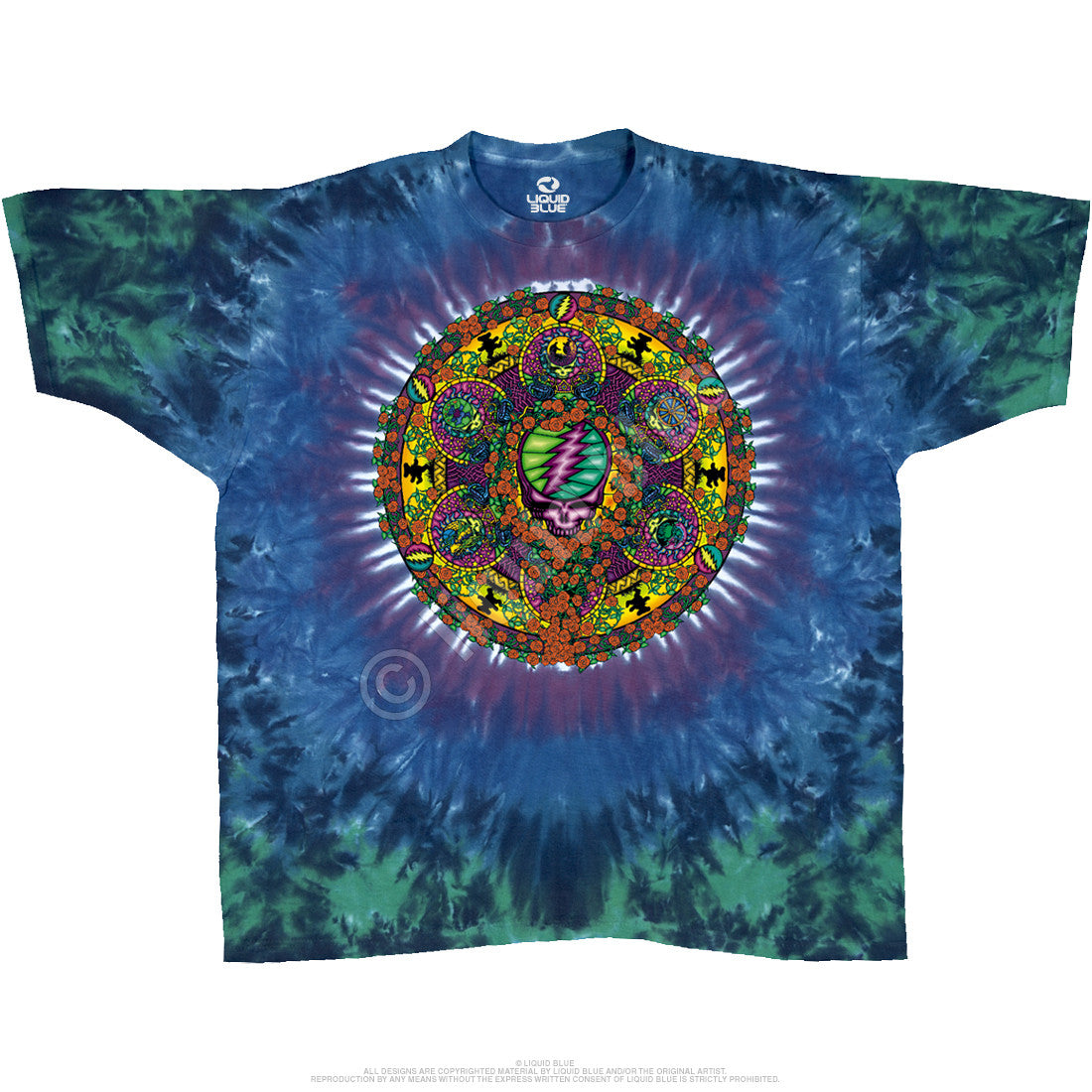 Grateful Dead Celtic Mandala Tie Dye T Shirt