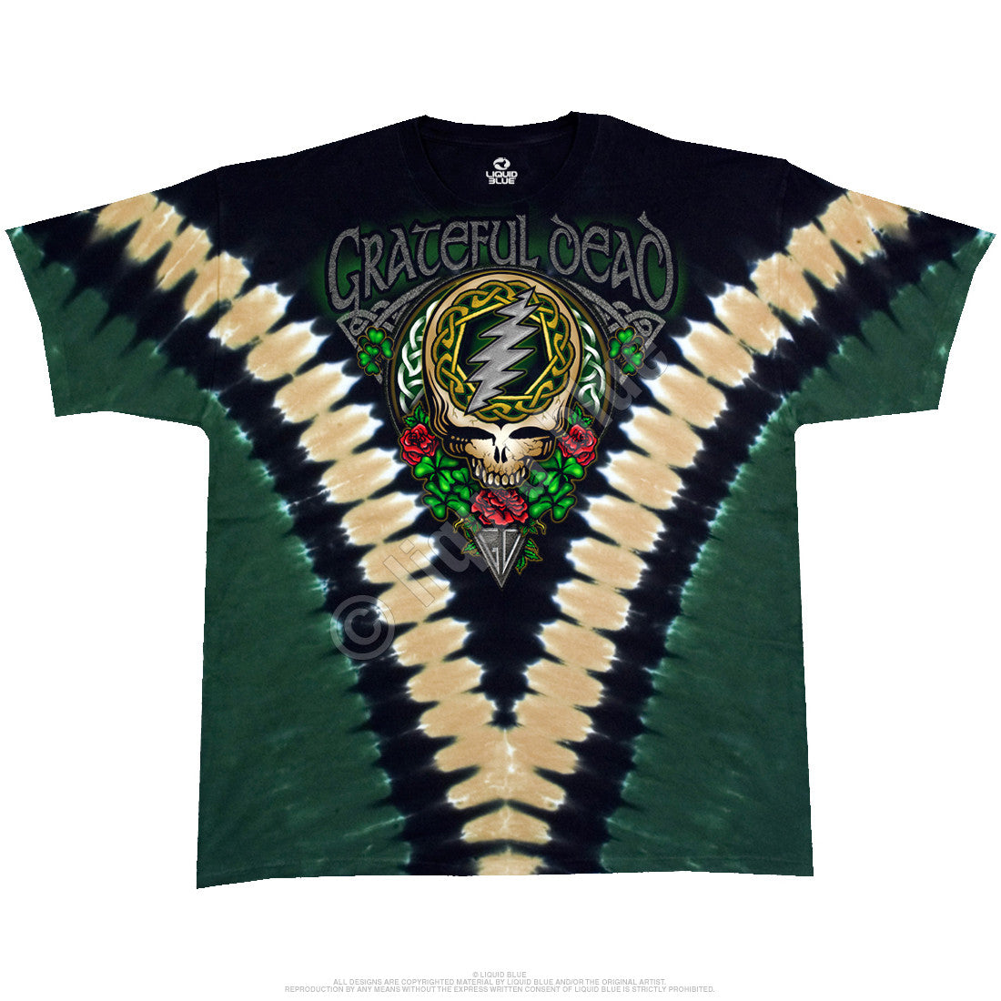Grateful Dead Shamrock Tie Dye T Shirt