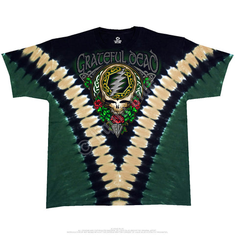 Grateful Dead - Shamrock Tie Dye T Shirt Licensed Sizes M - 6XL
