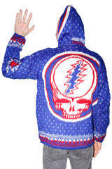 Grateful Dead Alpaca Style Jacket Blue/Red