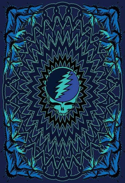 Grateful Deal Steal Your Face 7 Wall Hanging
