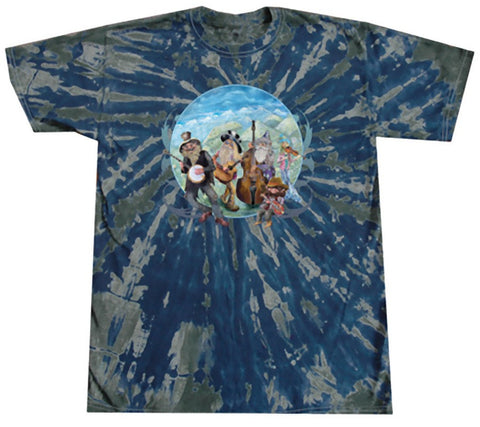 Blue Grass Gnomes Tie Dye T Shirt