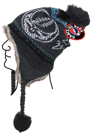 Grateful Dead Bears Ski Hat - Grey
