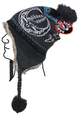 Grateful Dead Bears Ski Hat Grey
