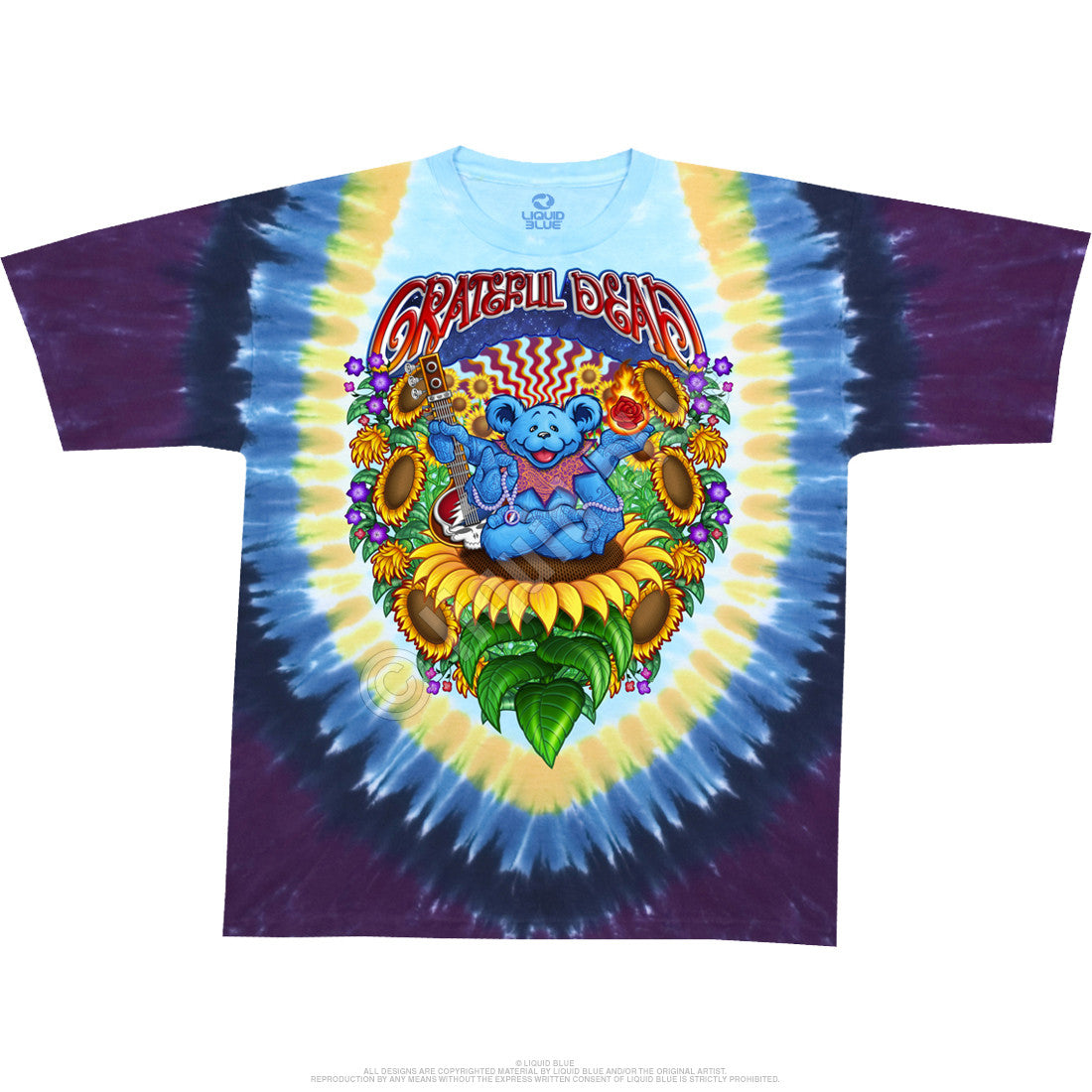 Grateful Dead Guru Bear Tie Dye T Shirt