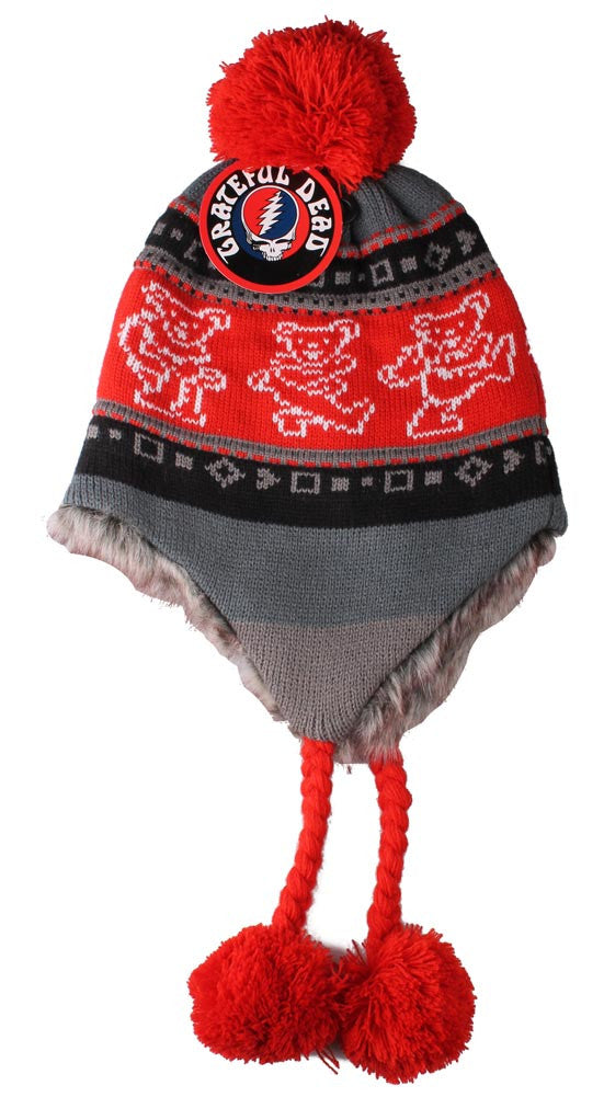 Grateful Dead Bears Ski Hat Red