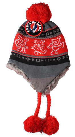 Grateful Dead Bears Ski Hat - Red