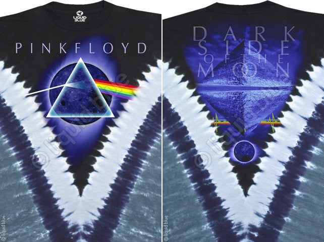 Dark Side Of The Moon Tie Dye V T Shirt
