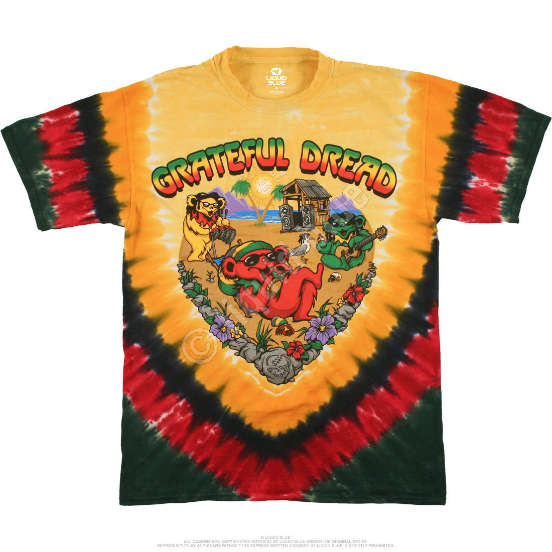 Grateful Dead Positive Vibrations Tie Dye T Shirt
