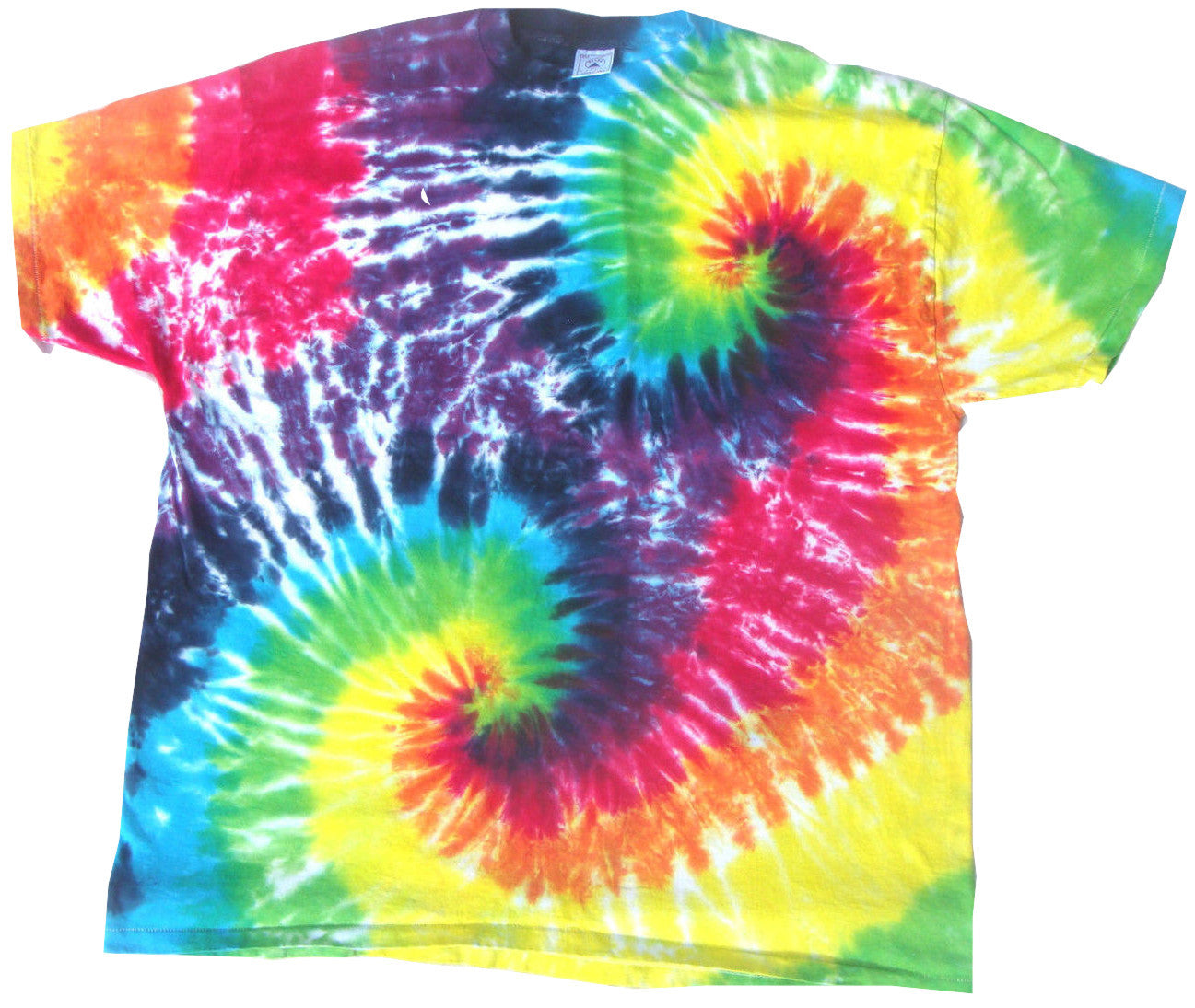 Rainbow Double Spiral Tie Dye T-Shirt