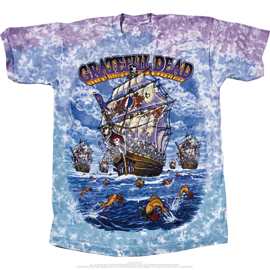 0ace1e197b6 Grateful Dead Ship Of Fools Tie Dye T Shirt