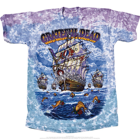 Grateful Dead - Ship Of Fools 2 Sided Tie Dye T-Shirt, Sizes M-6XL