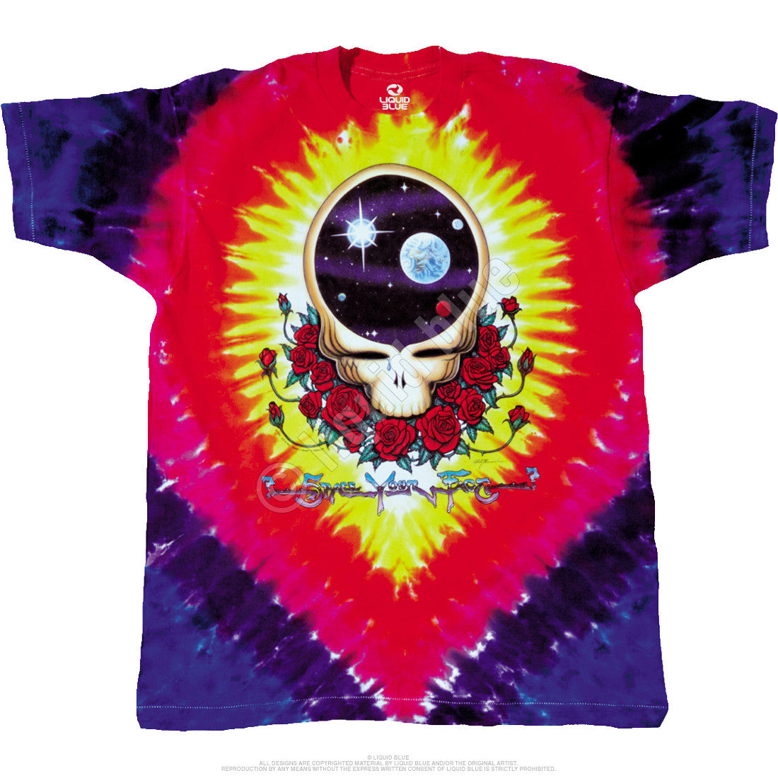Grateful Dead Space Your Face Tie Dye T Shirt