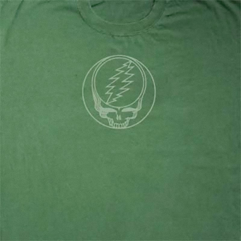 Grateful Deal Stealie Solid Green Short Sleeve T Shirt