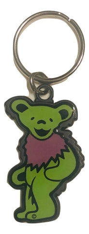 Grateful Dead Dancing Bear Two Toned Double Sided Enamel Key Chain