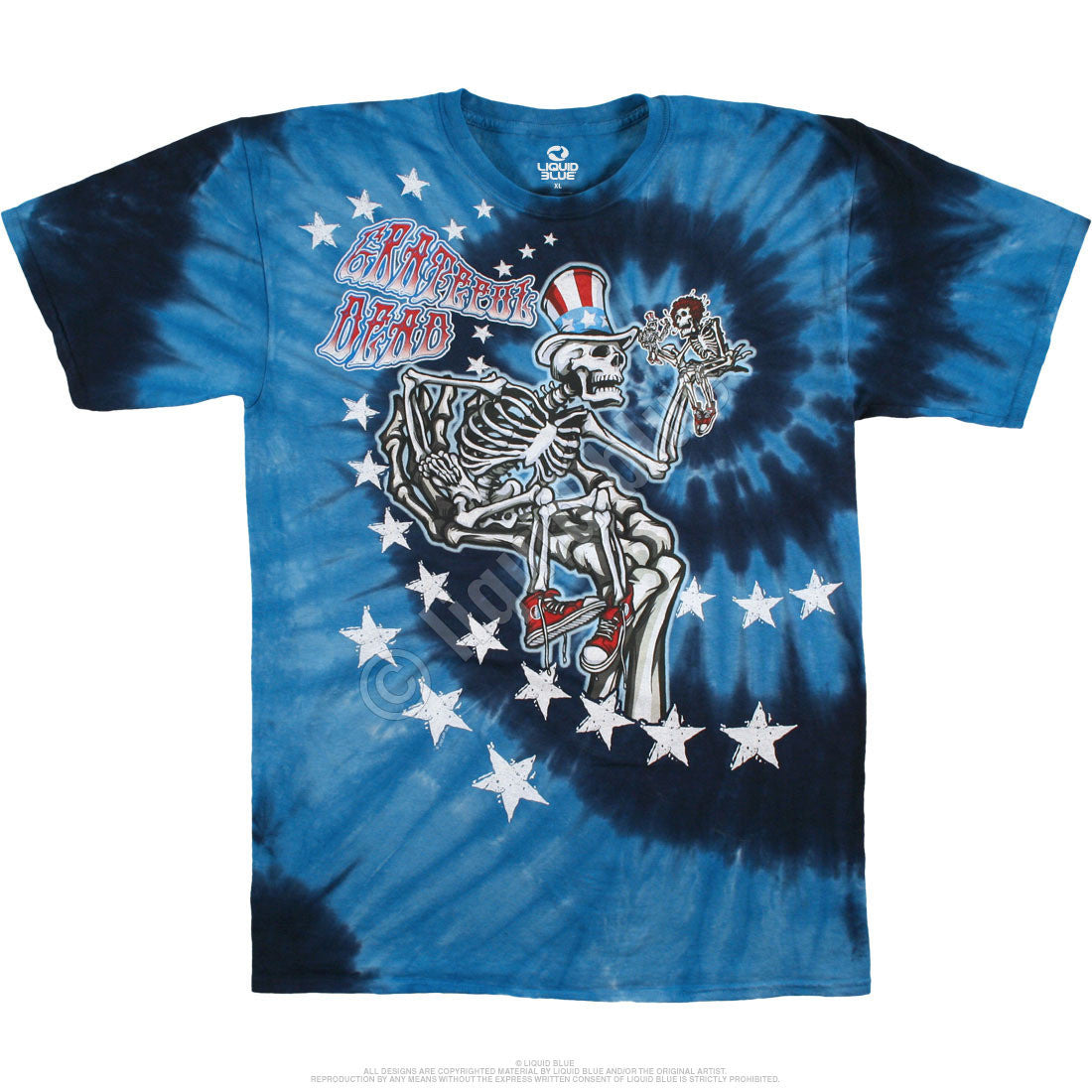 Tie Dye Uncle Sam T-Shirt