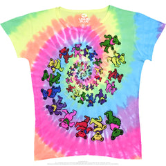 Spiral Bears Grateful Dead Tie Dye Long Length Shirt