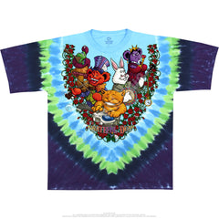 Grateful Dead Jamband Wonderland Tie Dye T Shirt