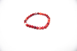 Wristband Red Agate