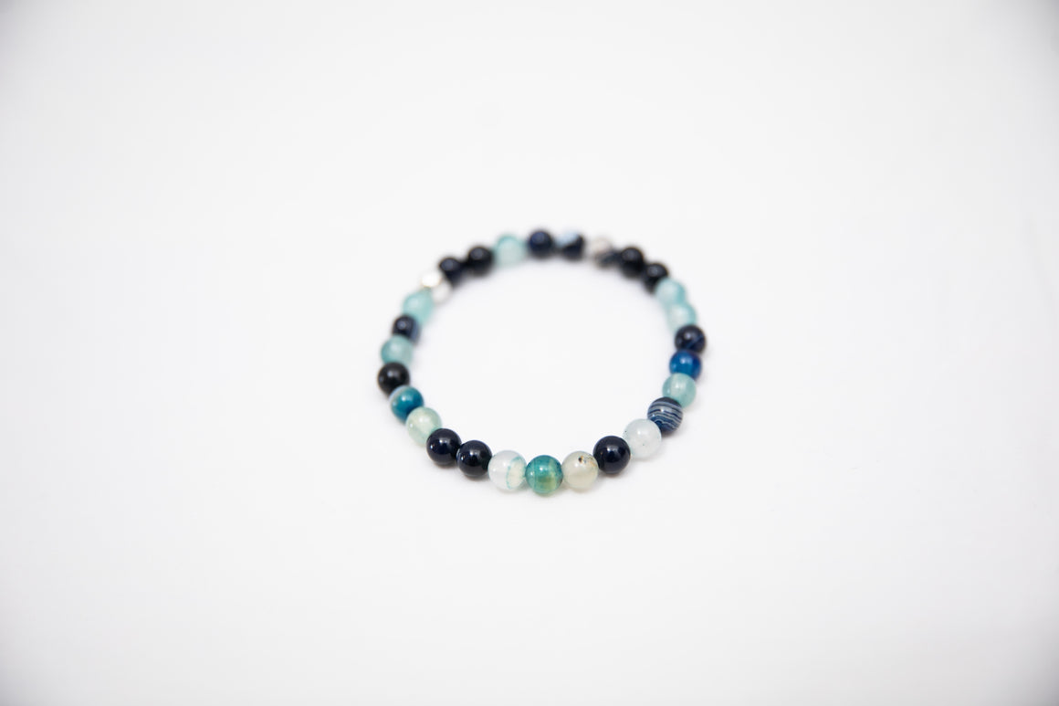 Wristband Blue shades Agate