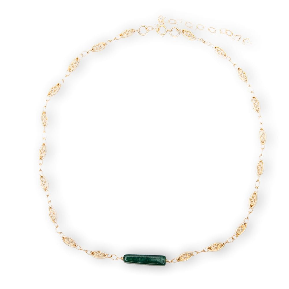 Gold Choker with Aventurine