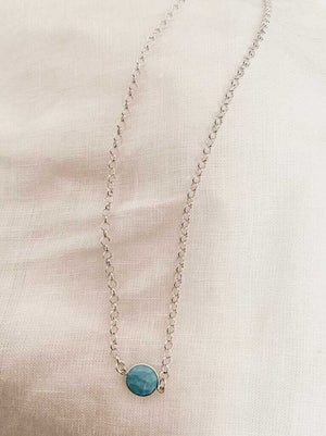 Sterling Silver Necklace with Turquoise Howlite pendant