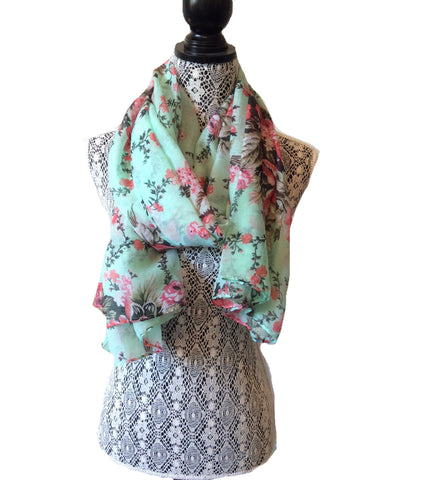 Minty Rose Viscose