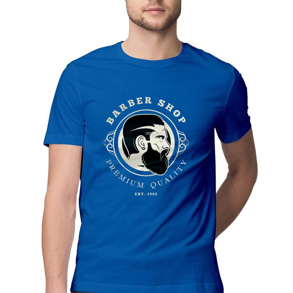 Barber Shop Mens Round Neck Tshirt