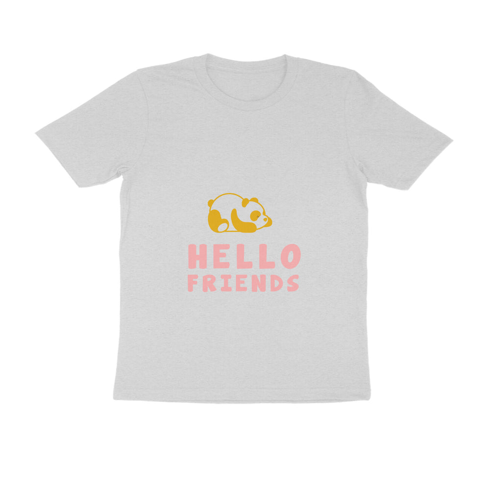 Mens Kannada Round Neck Tshirts - Hello Friends