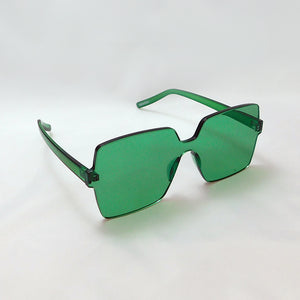 Big Block Sunnies in Emerald