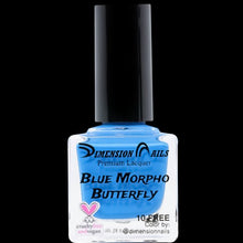 Load image into Gallery viewer, Blue Morpho Butterfly Nail Polish