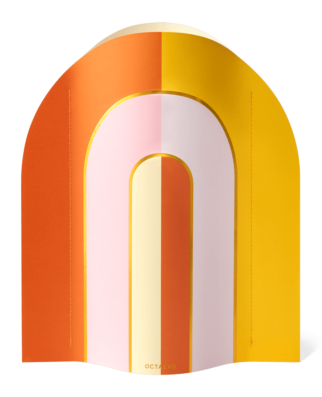 Octaevo Paper Vase Riviera/Orange Yellow Pink