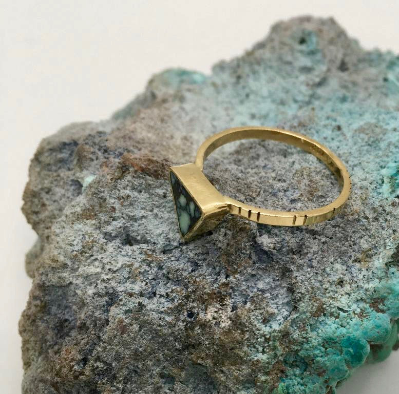 Young In The Mountains Triangle Ring-Size 6