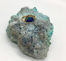 Load image into Gallery viewer, Young in the Mountains Azurite Selene Ring Size 6.5