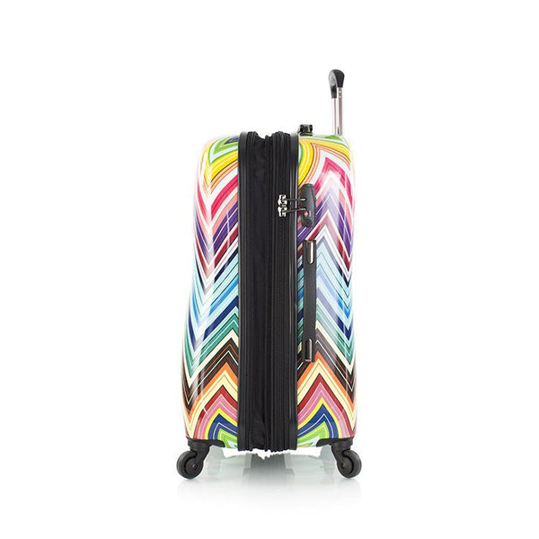 Heys Colour Herringbone Fashion Spinner 3 Piece Luggage Set - BuyBags