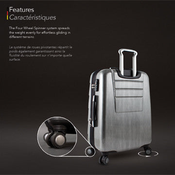 "HEYS Cronos Elite German PURE PC™ In Silver 30"" Luggage - BuyBags"