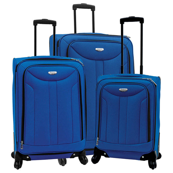 Samboro Softside Collection 3 Piece Luggage Set - BuyBags