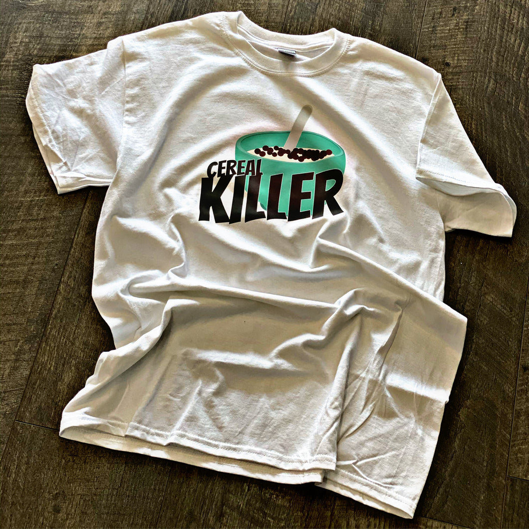 White Cereal Killer Tee