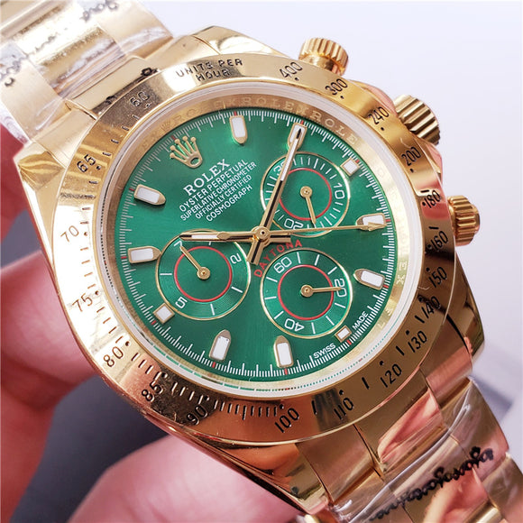 Rolex Daytona Green and Gold automatic Watch