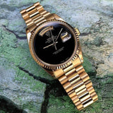 Rolex Luxury Women's Watch Black & Gold