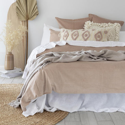 Sloane Cordoroy quilt cover set in beautiful soft shell pink colour