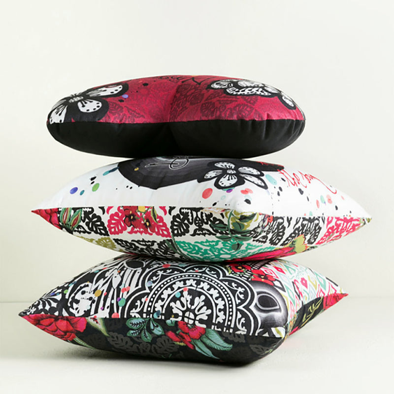 Desigual Cushion - B&W Stripes