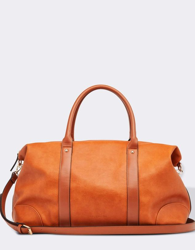 Buy Alexis Tan Travel Bag by Louenhide - at White Doors & Co
